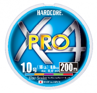 ШНУР DUEL PE HARDCORE X4 PRO 200 m 5 COLOR #1.2 (0.19 mm) ТЕСТ: 9.0 KG