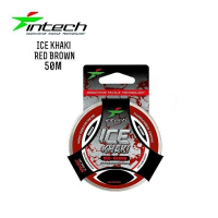 ЛЕСКА INTECH ICE KHAKI RED 50 m (0.148 mm) ТЕСТ: 1.9 KG