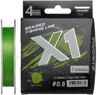 ШНУР FAVORITE X1 PE X4 150 m #0.6 (0.128 mm) 12LB/5.4 KG
